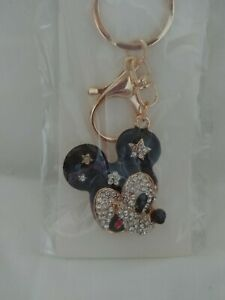 Diamanté Mickey Mouse Keyring Gift New In Original Packaging