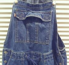 Denim Overalls Size 5/6 Frantic Blue Jeans bib farmer fashion Drawstring