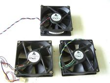 Computer Cooling Fans Delta 12VDC 0.6 to 0.7 Amp 92mm. lot of 3 used