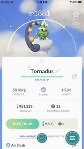 Pokemon Shiny Tornadus - Mini Acc - Trade Go 20k Dust