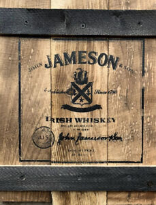 Rustic Handcrafted Wooden Crate- Featuring Jameson Irish Whiskey