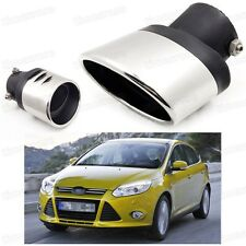 Silver Car Exhaust Muffler Tip Tail Pipe End Trim for Ford Focus 2011-2016 #2017