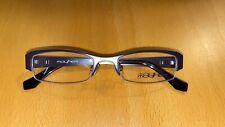 Mayhem Glasses Frames Rectangular Half Rim Eyeglasses Brown & Green