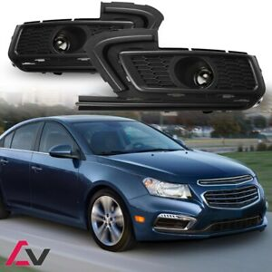 15-16 For Chevy Cruze Clear Lens Pair OE Fog Light Lamp+Wiring+Switch Kit DOT