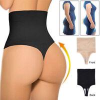 High Waist Body Shaper Thong G String Tummy Control Invisible Underwear Seamless