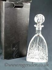 Thomas Webb  Crystal Glass Triangular Decanter in the Juliet Pattern