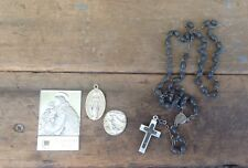 Collection of Catholic Items, St Anthony Relic, Rosary, & Medals