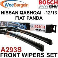 NISSAN QASHQAI FIAT PANDA Genuine BOSCH A293S Aerotwin Front Wiper Blades Set