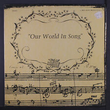 VARIOUS: Our World In Song LP (song-poems, shrink) Vocalists