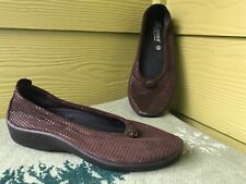 Women's New 39 Arcopedico Flats L14 Slip On Brown Shoes 8.5 M