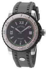 Gevril Men's 3111 Seacloud Automatic Black Dial Black Rubber Date Wristwatch
