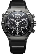 Piaget Polo FortyFive Flyback Chronograph GMT Titanium ADLC Black 45mm G0A37004
