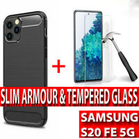 Samsung S20 FE 5G Shockproof Silicone Ultra Thin Case Cover & Screen Protector