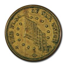 Usa Undated Civil War Token The Flag Of Our Union 1863 Au Dix Shoot Him On The S