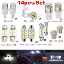 14Pcs LED Interior Package Kit For T10 36mm Map Dome License Plate Lights White~