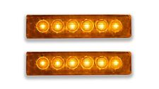 2 PCS 12V LED ORANGE SIDE DIRECTION MARKERS CLEARANCE LIGHTS RENAULT MAN IVECO