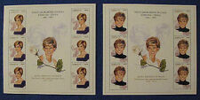 2 LOVELY PRINCESS DIANA (ENGLAND'S ROSE) MINT STAMP SHEETS AZERBAIJAN 1998