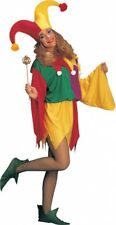 KINGS JESTER SEXY LADY COSTUME HALLOWEEN FANCY DRESS 1 SIZE OUTFIT 10-12 REDUCED