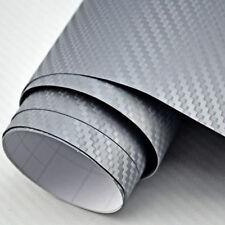 [9,18 €/ m ²] 3m x 152cm Charbon protection Gris Argenté Film auto voiture