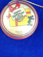 vintage disney yoyo Walt Disney productions Happy Birthday yoyo orange clear