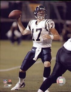 """PHIL RIVERS b """"SAN DIEGO CHARGERS"""" 8 X 10  COLOR PHOTOGRAPH"""