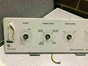 GE dryer DISR473CT5WW - control panel timer & selector switches CP-5