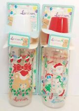 Lot 2 Vintage Luv n' Care Collectible Baby Bottles Christmas Holidays Latex RARE