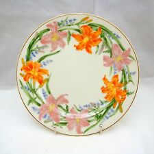 """Lenox FLOWER BLOSSOM Suzanne Clee DAY LILY Dessert Plate 8 3/8"""" EXCELLENT"""