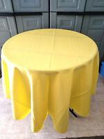 Lemon Yellow polyester Tablecloth - Oval,Square,Rectangular,Round, Napkins, USA