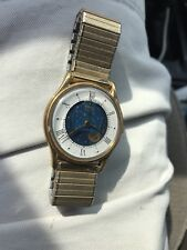 Vintage Timex Moon Phase Watch ~ Timex M Cell T43 Mens Wrist Watch Need battery