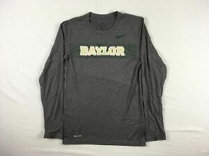 Baylor Bears Nike Long Sleeve Shirt Men's Gray Dri-Fit NEW Multiple Sizes