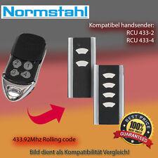 Handsender Garagentorantriebe 433,92 MHz NORMSTAHL RCU 433-2 Funksender