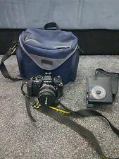 Nikon F-301 SLR W/ Zoom Nikkor 35-70mm 1:3.3-4.5 lens , camera bag & flash
