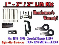"88 - 98 Chevrolet GMC 1500 Torsion Level 3"" FORGED KEYS + EXT + 2"" Blocks + TOOL"