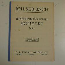 BASS/parte violoncello di Bach Brandenburg Concerto 1-6, C F Peters