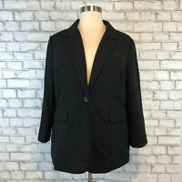 Susan Graver Women's Black Single Button Blaxzer Jacket Size XL Extra Large
