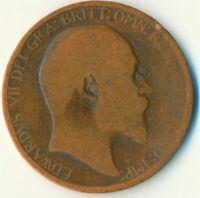 1903 HALF PENNY OF EDWARD VII. VERY NICE COLLECTIBLE COIN    #WT6922