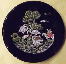 Ancienne Assiette Souvenir de Vacance Lunel Flamant Rose Camargue