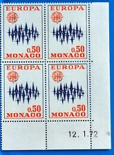 BLOCCO 4 FRANCOBOLLI MONACO N° 883 EUROPA NUOVO MNH BD63