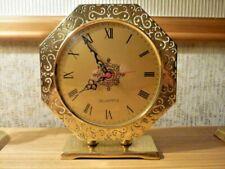 Vintage BRASS Clock Octagonal Quartz