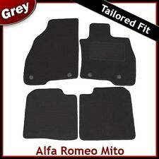 Alfa Romeo Mito (2009 2010 2011) Tailored Fitted Carpet Car Mats GREY
