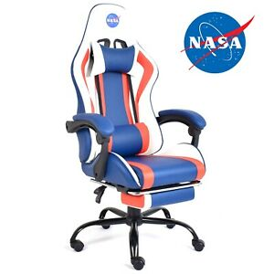 SEDIA GAMING POLTRONA RECLINABILE GIOCO TESSUTO UFFICIO SCRIVANIA NASA PC RUOTE