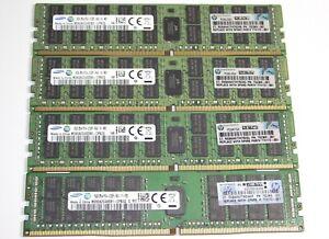 64gb kit 4 x 16gb PC4-2133P ECC Reg Server RAM - Genuine HP 774172-001 - UK -