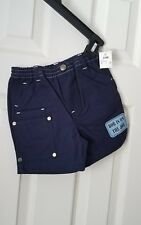 Bob the Builder Baby Boys Vintage size 12M 12 mos months 100% cotton navy Shorts