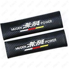 2X Carbon Fiber Car Seat Belt Cover Safety Pads Shoulder Cushion For MUGEN POWER
