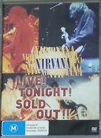 Nirvana Live Tonight Sold Out DVD Fast Delivery Great DVD