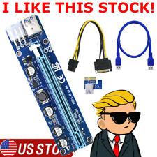 60Cm Ver008C Pci-E Riser Card Pcie 1X To 16X Usb 3.0 Data Cable Bitcoin Usa Rvn