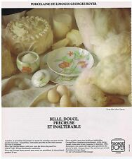 PUBLICITE ADVERTISING 104 1978 GEORGES BOYER porcelaine de Limoges