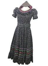 Handmade Small Pioneer Prairie Civil War Reenactment Style Dress With Bonnet