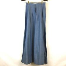 """Oops Tencel Long Modest Skirt Pleated Chambray Prairie Style 24"""""""